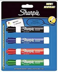 Sharpie Whiteboard Marker Bullet Tip - Assorted Colours (Pack of 4)