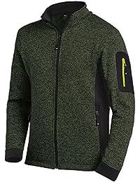 FHB Strickfleece Jacke atmungsaktiv, Farbe:olive;Größe:XXL