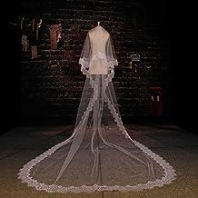 VEIL velo de novia catedral velo pestaña encaje y el peine?Ivory White