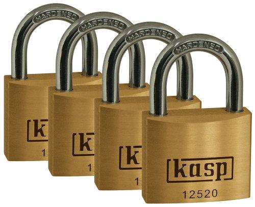 Kasp Messingschloss Premium Viererpack, 20 mm, K12520D4