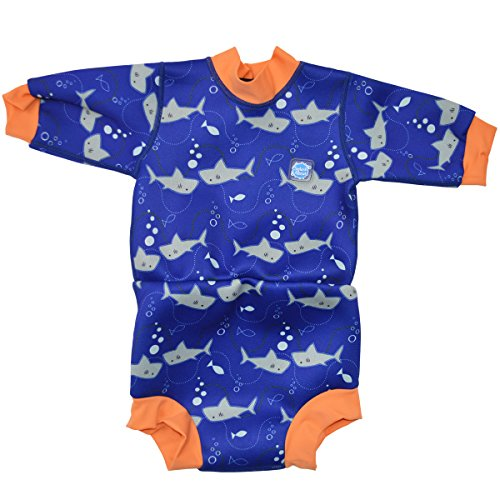 Splash About Baby Happy Nappy Schwimmanzug, Hai Orange, 6-12 Monate, HNWSOL