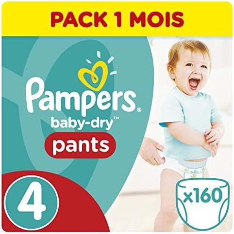 Pampers Baby Dry Pants 160 Couches pour Bébé de 8-16 kg/Maxi Taille 4