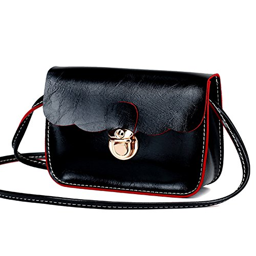 GSPStyle-Piccola borsa a tracolla, borsa a tracolla, da ragazza Nero (nero)