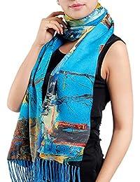 Helan Mujeres Seda natural real 180 X 50 cm Las bufandas largas