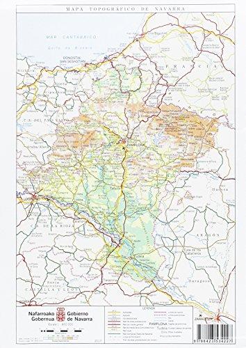 Mapa topográfico de Navarra, E 1:850.000 por Departamento de Desarrollo Económico. Dirección General de Obras Públicas