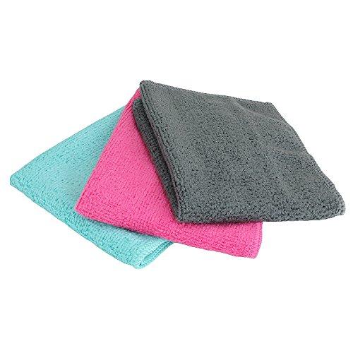 Gesichtsreinigungs-Tuch aus Mikrofaser in verschiedenen Farben (Pink, Mintgrün, Anthrazit) Wiederverwendbare Reinigungstücher für optimale Pflege. Weiches Kosmetik-Tuch für sanfte Hautreinigung (Pink)