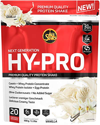 All Stars Hy-Pro Protein, Vanille, 1er Pack (1 x  500 g) -
