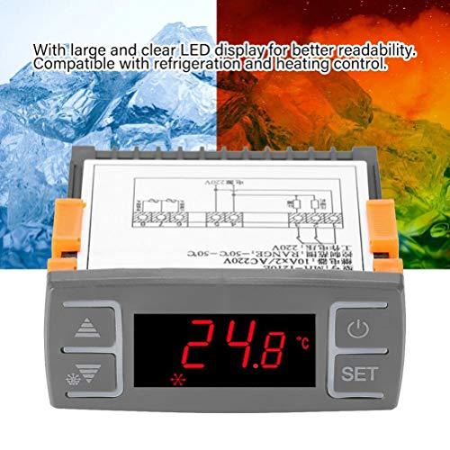 Termostato digitale frigorifero Congelatore Refrigerazione Sbrinamento Termostato con funzione allarme AC220V