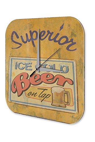 Reloj De Pared Cerveza Decoración Retro helado taza de cerveza de barril Plexiglas