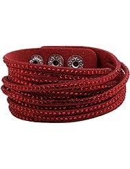&ZHOU pulseras,Hombres y mujeres, varios colores de moda, brazalete multicapa, opciones (3pcs) , red