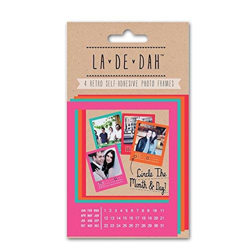 La De Dah Bilderrahmen im Polaroid-Look, mehrfarbig
