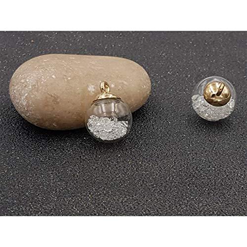 Blasen Globe Anhänger (creafirm-10Mini Globen Blasen mit Strass Kristallsteinen 22x 15)