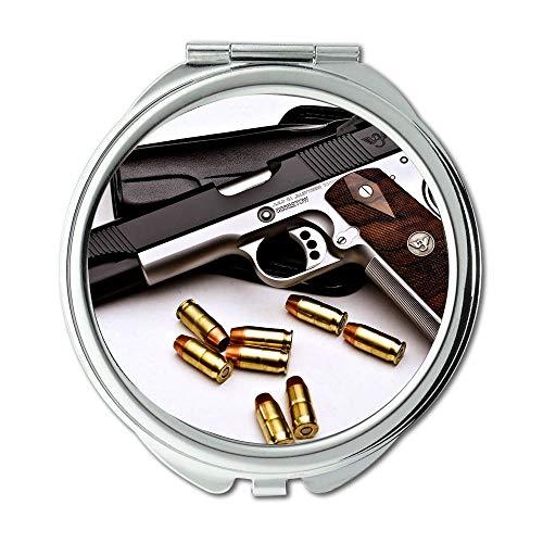 Yanteng Spiegel, Compact Mirror, 3 Waffenkoffer, Round Mirror, Waffe, Taschenspiegel, tragbarer Spiegel