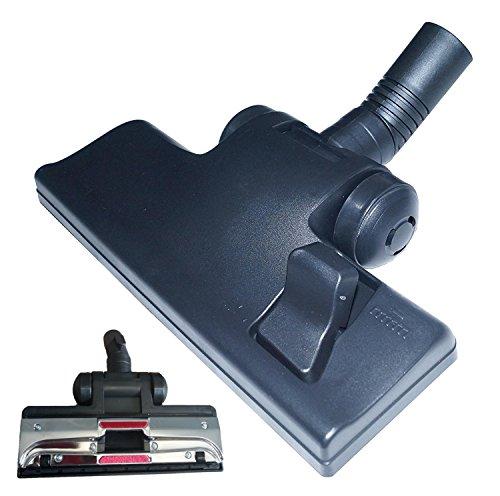 Universal Staubsauger-Bürste mit Kippgelenk und 4 Rollen, Kombi-Bodendüse 32mm Rohr - mit umschaltbarem Bürstenkranz, passendes Zubehör Ersatzteil für handelsübliche Bodensauger mit 32 mm Teleskop-Rohr Anschluss