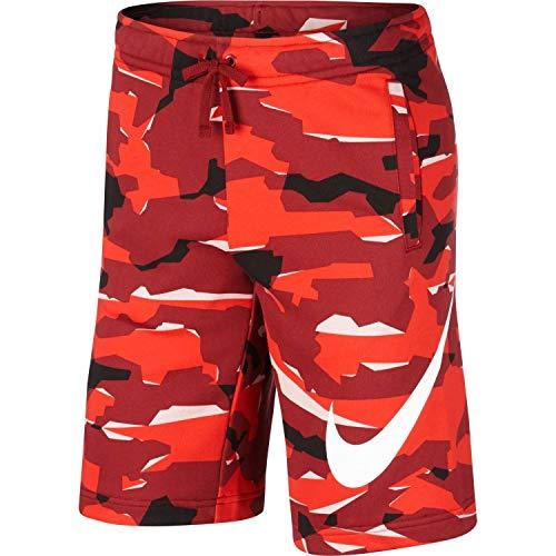 Nike Herren Sportswear Camo QS Shorts, Team Red/(White), L