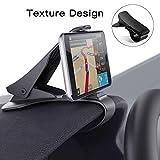 Modohe Handyhalterung Auto, Kfz Armaturenbrett Universal rutschfest Handyhalter für iPhone XR XS Max X 8 7 6s Plus S10 S9 S8 Note Huawei P20 und alle 3.5-6.5 Zoll Smartphones (Schwarz)