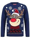 Tokyo Laundry Weihnachtspullover mit Rundhalsausschnitt und LED-Licht Gr. X-Large, Rudolph The Reindeer Sapphire