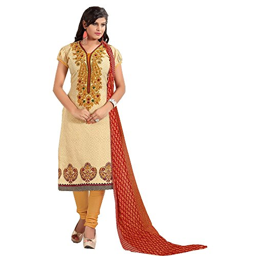 Mahavir Fashion Women's Cotton Churidar Salwar Kameez and Unstitched Dress Materials  available at amazon for Rs.479