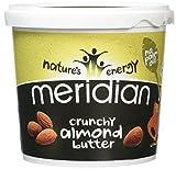 MERIDIAN FOODS - No GM Soya Crunchy Almond Butter 1kg 1kg (PACK OF 1)