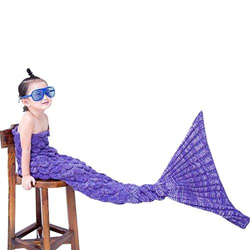 Weiche Meerjungfrau Endstückdecke warmer Fischschwanz Flanell Bettlaken Kokonfischbeutel Snuggle im Bett Kostüm-Sofa Für Kinder Erwachsene (Klein für Kinder, (Für Ideen Girls Kostüme Teen)
