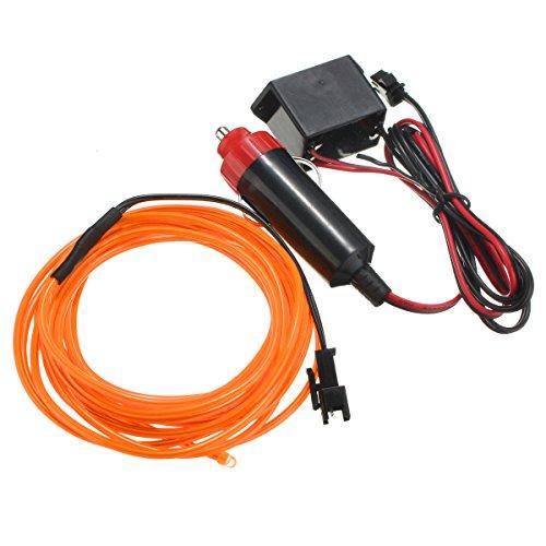 Wooya 300Cm EL Neon Light Effect Light Cable Cord Wire 12V Wechselrichter-Orange