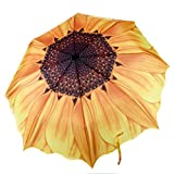 Sonnenblume Regenschirm Sonnenschirm UV Schutz Gelber Groß Taschenschirm Blumen Form Kreativer...
