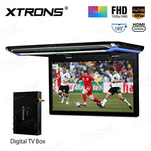 XTRONS® 39,6cm superdünn FHD Digital TFT Bildschirm 1080P Video Auto Overhead Player Dach montiert Monitor HDMI Port (Auto Hdmi Player Dach Dvd)