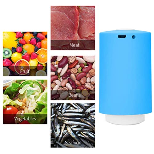 gsmaschine für Bekleidung Lebensmittelspeicher-System, USB-wiederaufladbare Verpackung, Akku-Vakuum-tragbare Luftpumpe mit 5 BPA Wiederverwendbare Taschen kostenlos ()