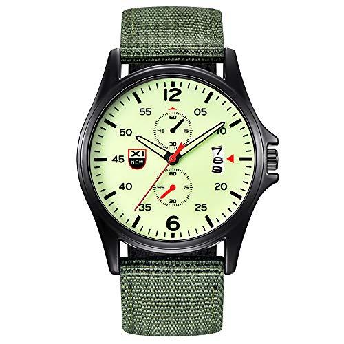 XZDCDJ Herren Uhren Angebote Für Militär Nylon wasserdicht Datum Quarz Analog Army Herren Quarz-Armbanduhren 94