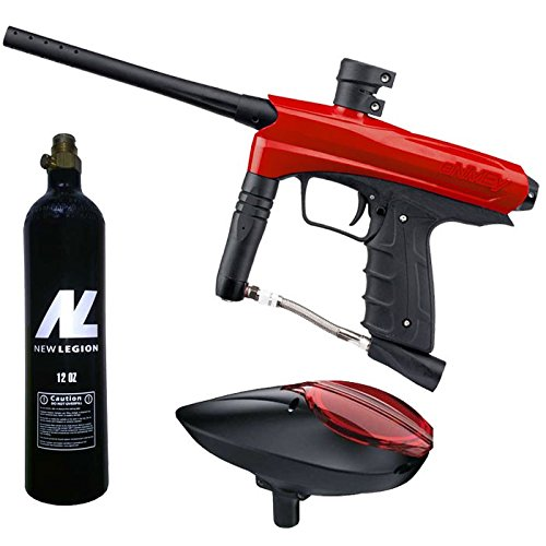 Kids Paintball Markierer cal.50 inkl. Loader und 12oz CO2 Tank - Red Dragon - Co2-tank Paintballs
