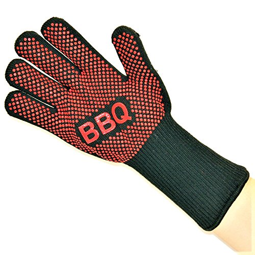 Kayos Extreme Heat Resistant Cooking Gloves for BBQ, Grilling, Oven and Fireplace - 14' Long Forearm Protection - 1 Pair