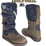 Trial Stiefel WULFSPORT Enduro Quad Trail Leder Stiefel Off Road Braun (42)