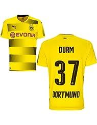 Puma BVB Borussia Dortmund Home Trikot 2017 2018 Heimtrikot mit Spieler Name Farbe Durm, Größe L