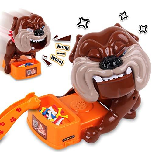 Hüten Sie sich vor bösen Hunden Spielzeug Hund stiehlt Knochen Beißender Hund Sandwich Knochen Heikles Eltern-Kind-Gruselhund