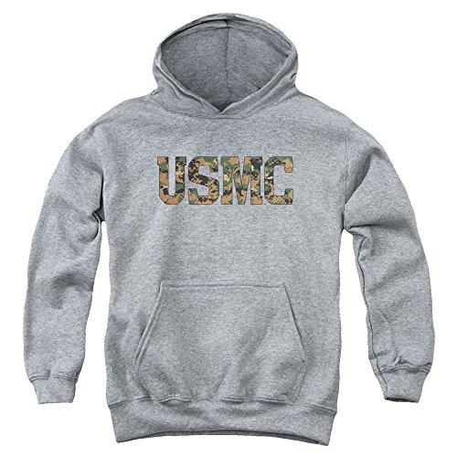 Us Marine Corps - - Youth USMC Camo Fill-Kapuzenshirt, Small, Athletic Heather -