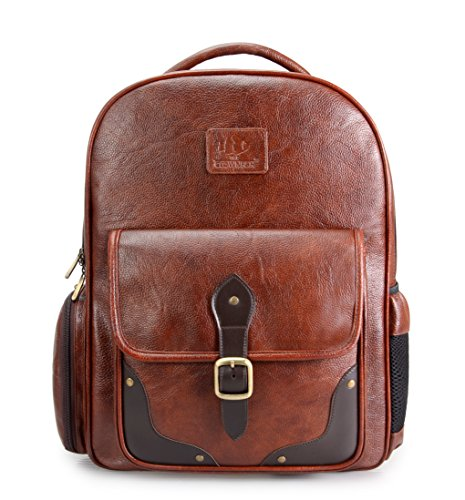 The Clownfish Synthetic 28 Ltrs Brown Laptop Travel Backpack, School Bag