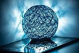 3D Mondlampe 16 Farben RGB wiederaufladbare USB Fernbedienung und Touch Control Rattan LED Nachtlicht Deko für Schlafzimmer, Wohnzimmer, Geschenk für Frauen und Kinder 15 cm blau