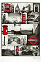 1art1 48800 Poster Londres Collage Rouge 91 X 61 cm