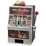 Spardose – Spielautomat (ohne Gravur): originelle Verpackung für Dein Geldgeschenk – in Las Vegas Optik und mit witzigen Soundeffekten – optional mit Deinem Wunschtext graviert