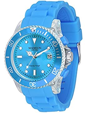 MADISON NEW YORK Unisex Uhr Candy Time® Flash Hellblau Onesize