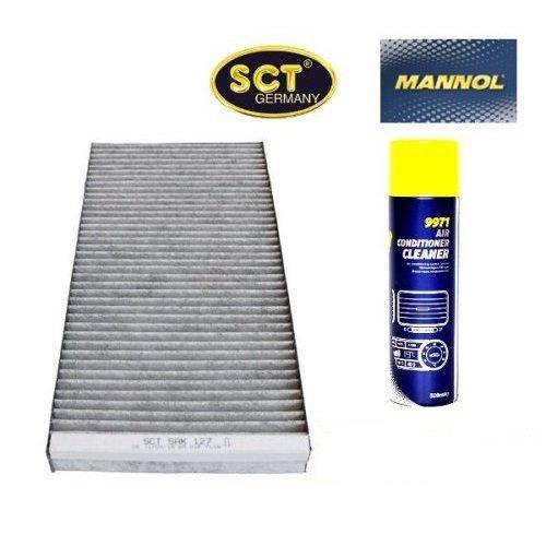 Aktivkohle Klimaanlage (SCT Innenraumfilter Aktivkohle Pollenfilter Partikelfilter Kabinenfilter (Opel) (Corsa) C + 520 ml Mannol Air Conditioner Cleaner Klimaanlagen Reiniger Desinfektion)