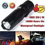 LCLrute Hohe Qualität Shadowhawk X800 Tactical Mini Taschenlampe LED Zoom Militär Taschenlampe G700 (Schwarz)