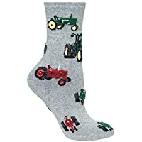 Tractor Design Novelty Socks In Grey