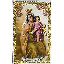 9df5753d207 Azulejo de cerámica Virgen del Carmen 25 x ...