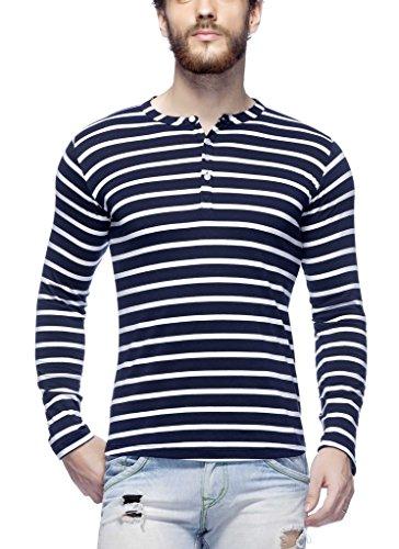 Tinted Men's Cotton Henley T-Shirt TJ103CSF4-NAVY-L