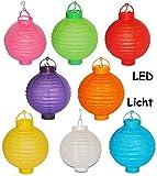 6 tlg. Set Papier Laterne mit LED Licht - kabellos - Papierlaterne Laternen Lampion Lampions bunt