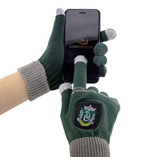 Harry Potter Touchscreen Handschuhe Gryffindor. Slytherin. Ravenclaw - Cinereplicas  (Slytherin)