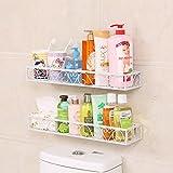 CKH Free Punch Baño Estante Montaje de pared Baño Inodoro Estantería de almacenamiento Vanity Cosmetics Rack Corner Aspiración Blanco