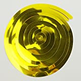 RFKMS 2Bag Christmas Party PVC Swirl Decorations Hanging For Ceiling Decorations Colorful Toys Kids(Yellow)
