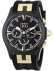 Cerruti 1881 Herren-Armbanduhr XL MOLTRASIO Analog Quarz Silikon CRA076BB02